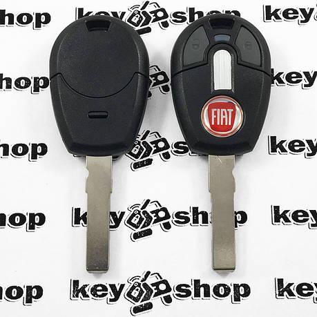 Корпус авто ключа под чип для Fiat (Фиат), 2 кнопки,  с лезвием SIP22, фото 2