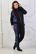 """Женский трикотажный спортивный костюм """"SRARS"""" с лампасами (большие размеры), фото 3"""