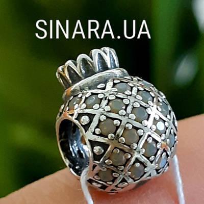 Срібний шарм Пандора Pandora Ананас - Шарм Ананасик з камінням
