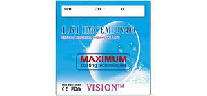 Линзы для очков VISON™с высоким индексом 1,61 (С покрытием HMC+EMI+UV400)
