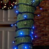 Фасадная гирлянда нить 10м, Синяя,100 LED уличная
