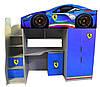 Кровать-чердак Форсаж Феррари синяя без спойлера Цена 6955грн (без комода)