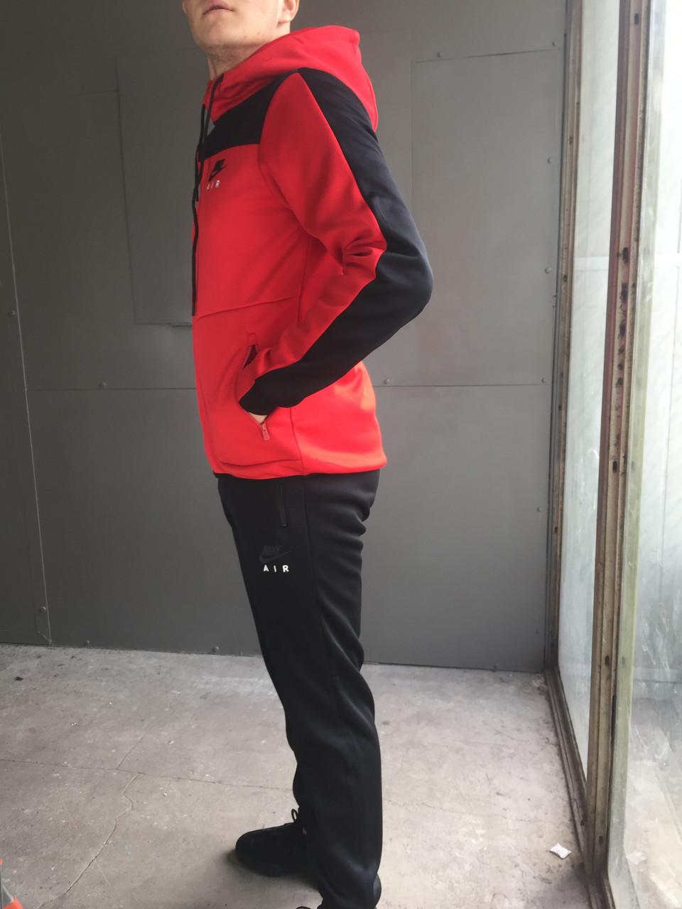 Мужской спортивный костюм Nike Air (красный) (зима)