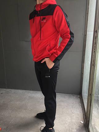 Мужской спортивный костюм Nike Air (красный) (зима), фото 2