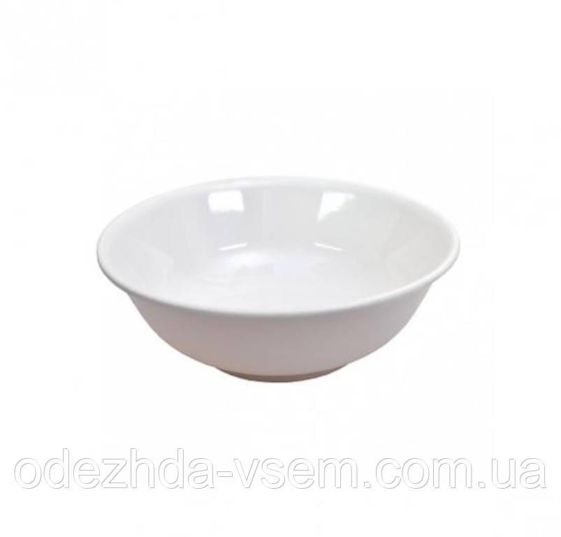 Меламиновая тарелка белая 15.5×5см