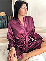 7538ce08cef4 Соблазнительный женский халат вишневого цвета, одежда для дома и сна ТМ  Exclusive. 120 грн.