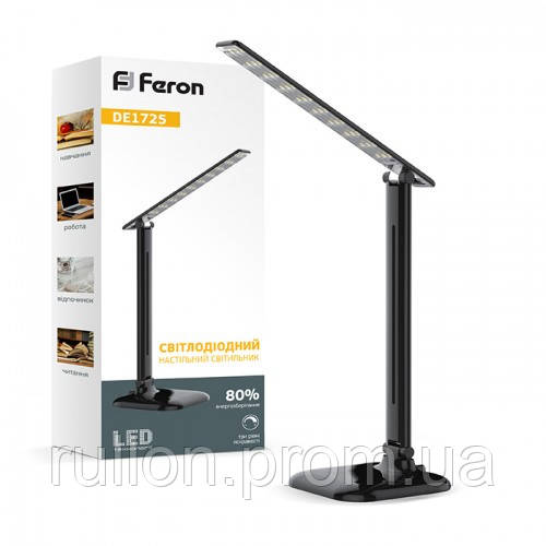Настольная лампа Feron DE1725 Черная