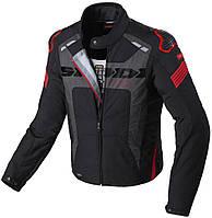 Мотокуртка Spidi Warrior H2Out текстиль черный красный, L