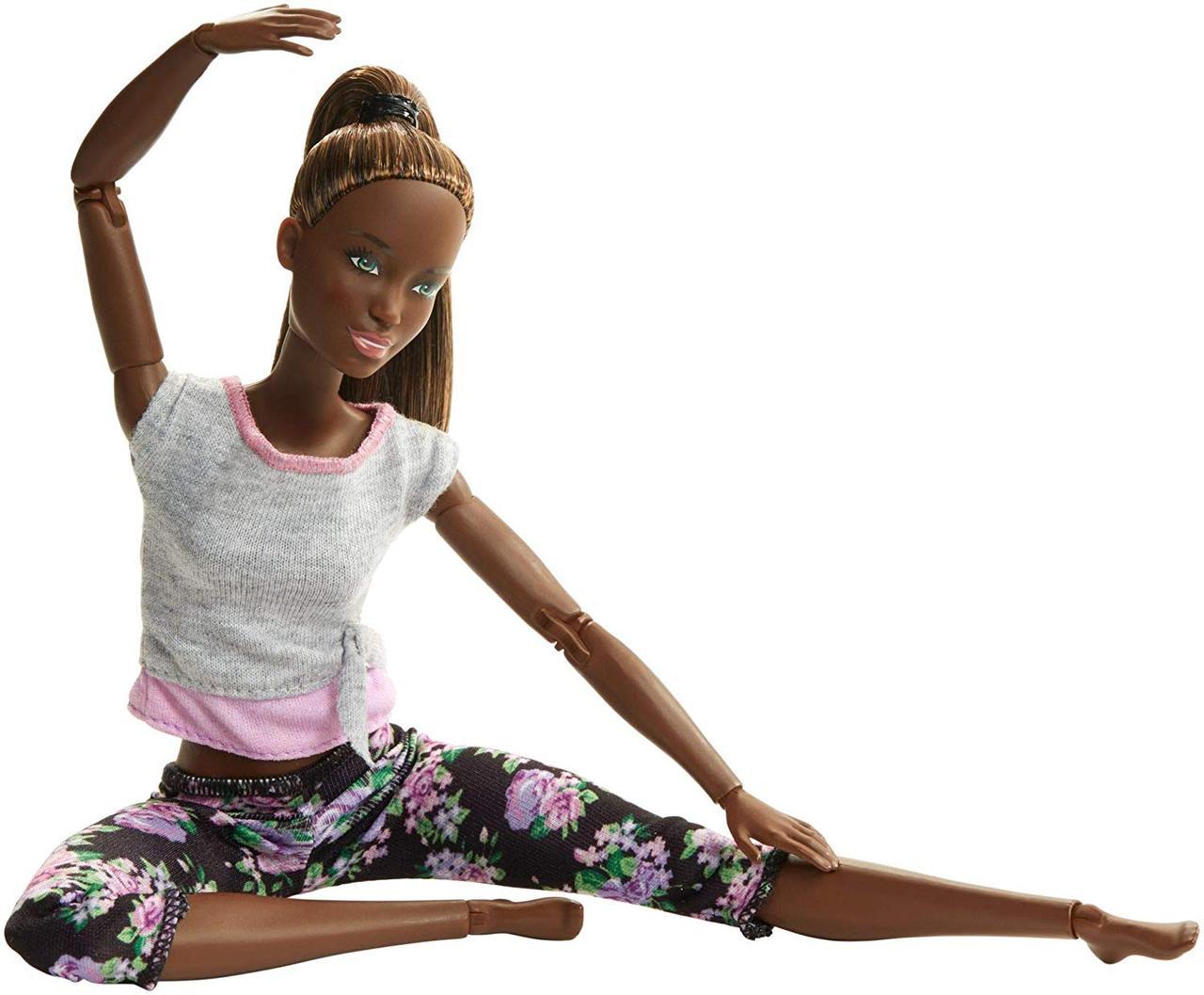 Кукла Барби йога афроамериканка безграничные движения Barbie Made to Move Doll Dark Hair FTG83