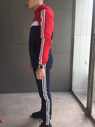 Мужской спортивный костюм Adidas (красный) (зима) + ПОДАРОК, фото 2