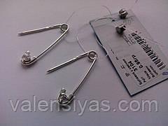 Серебряная булавка с фианитом. Булавка от сглаза, фото 3
