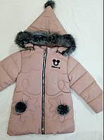 """Детская демисезонная куртка на девочку """"Пушок"""" р. 2-5 лет пудра"""