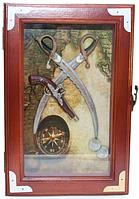 Ключница настенная из натурального дерева Сабли 30х20х6,5 см.