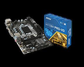 Мат. плата MSI H110M PRO-VD Socket 1151