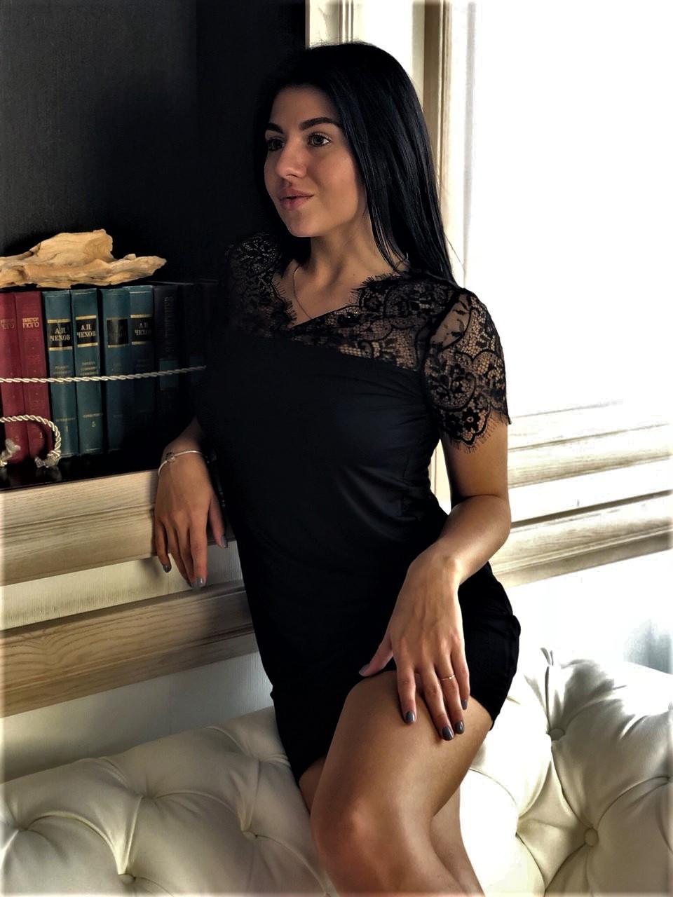 Платье с кружевом из вискозы ТМ Exclusive, одежда для дома.
