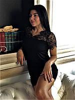 Платье с кружевом из вискозы ТМ Exclusive, одежда для дома., фото 1