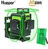 Лазерный уровень Huepar 3D Green HP-903CG с зелёными лучами