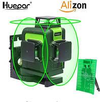 Лазерный уровень Huepar 3D Green HP-903CG с зелёными лучами, фото 1