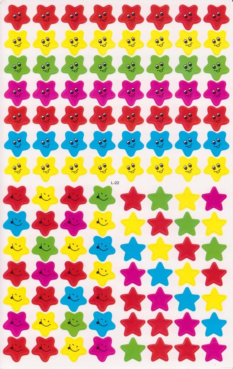 Наклейки для оценок Звёзды 448 шт. L-22