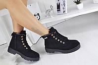 Женские ботинки Timberland черные, фото 1