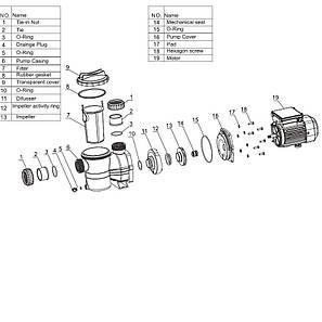 Насос AquaViva LX SMP020M 7 м³/ч (0,35НР, 220В), для бассейнов объёмом до 28 м3, фото 2