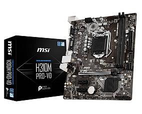 Мат. плата MSI H310M PRO-VD Socket 1151