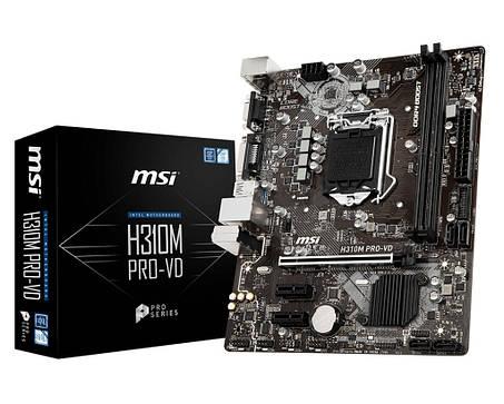 Мат. плата MSI H310M PRO-VD Socket 1151, фото 2