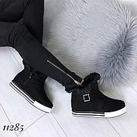 Женские ботинки с опушкой