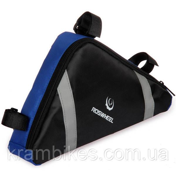 Сумка под раму Roswheel - Bicycle Thriatlon Bag 12490-B 1.5л Чёрный/Синий