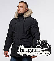Braggart Dress Code 24640 | Зимняя мужская парка черная, фото 1
