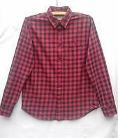 fc7e5029434 Рубашка мужская теплая в клетку коттон фланель размер M