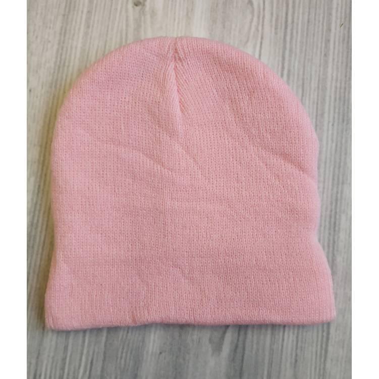 Детская шапка весна-осень розовая 2189