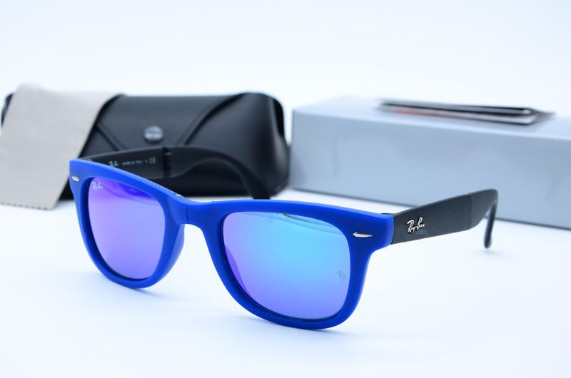 Солнцезащитные мужские очки Ray Ban Клабмастер складные 4105 с6020-17