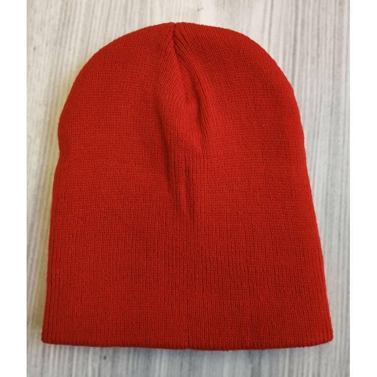 Детская шапка весна - осень красная 2188
