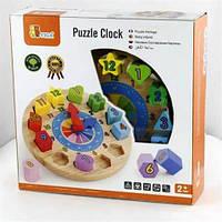 Деревянный вкладыш Часы 59235 Viga Toys