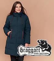 Braggart Diva 1931   Куртка длинная женская большого размера темно-зеленая f8f2ee7418d