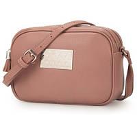 Мини сумка женская David Jones CM 3652 темно- розовая