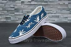 Кеды унисекс синие Vans Vault Era LX OG 'Palm Leaf' (реплика), фото 3
