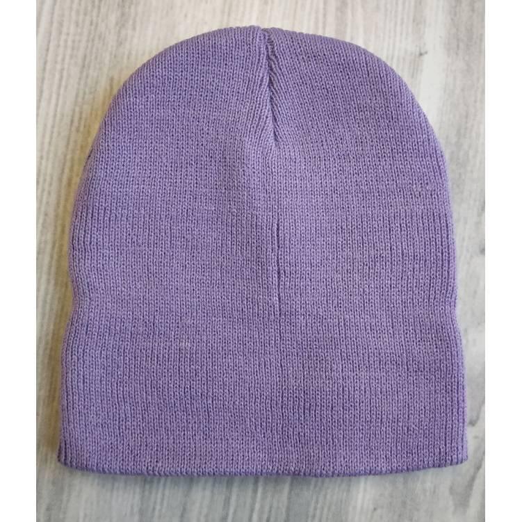 Детская шапка весна - осень фиолетовая 2187
