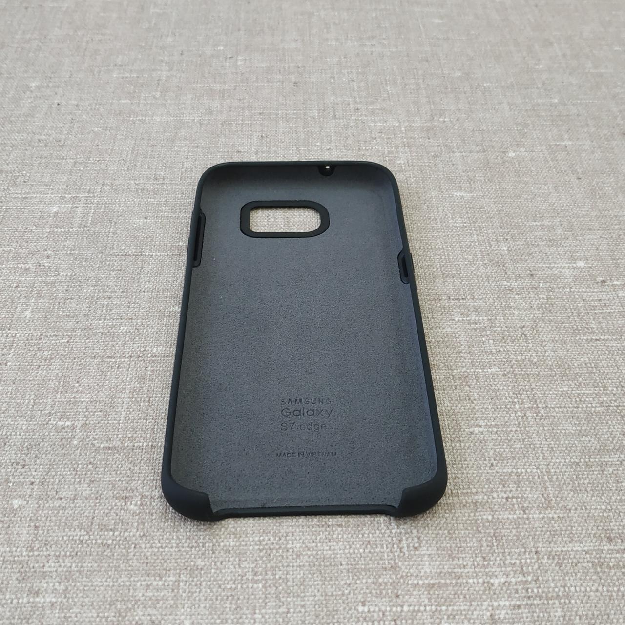 Original Soft Samsung Galaxy S7 Edge G935 black Для телефона Черный