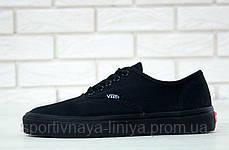 Кеды унисекс черные Vans Authentic (реплика), фото 3