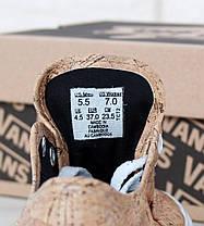 Кеды унисекс коричневые Vans Authentic (реплика), фото 3