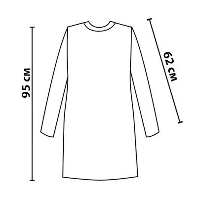 Размерная сетка вязаного платья Мулине