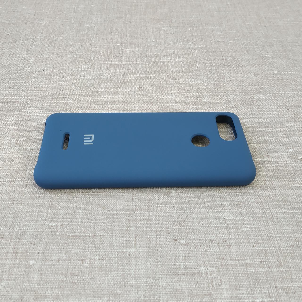 Чехлы для Xiaomi Redmi 6 Original Soft dark blue