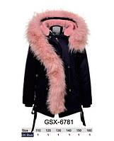 Куртки з хутром для дівчаток оптом, розміри 110-160 Glo-story, арт. GSX-6781, фото 1