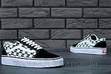 Кеды унисекс черные Supreme x Vans Old Skool (реплика), фото 3
