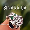 Серебряный подвес шарм Pandora Сова - Шарм Сова серебро, фото 5
