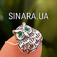 Серебряный подвес шарм Pandora Сова - Шарм Сова серебро, фото 4
