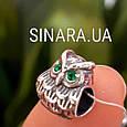 Серебряный подвес шарм Pandora Сова - Шарм Сова серебро, фото 2