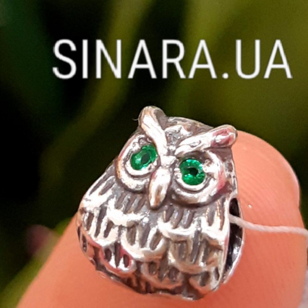 Серебряный подвес шарм Pandora Сова - Шарм Сова серебро